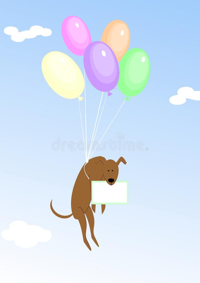 Balloons_dog illustrazione vettoriale