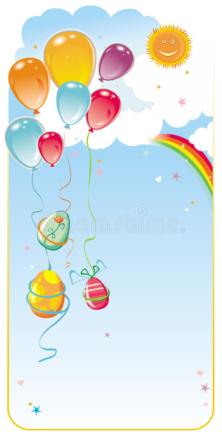 Download Balloons Easter Frame Composit Stock Vector - Illustration: 4545943