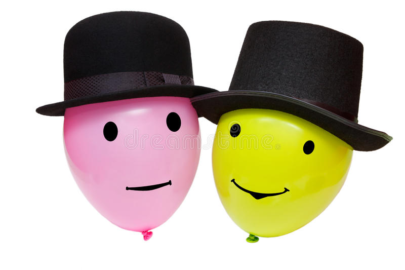 Download Balloons in a hats stock image. Image of smile, backgrounds - 30151227
