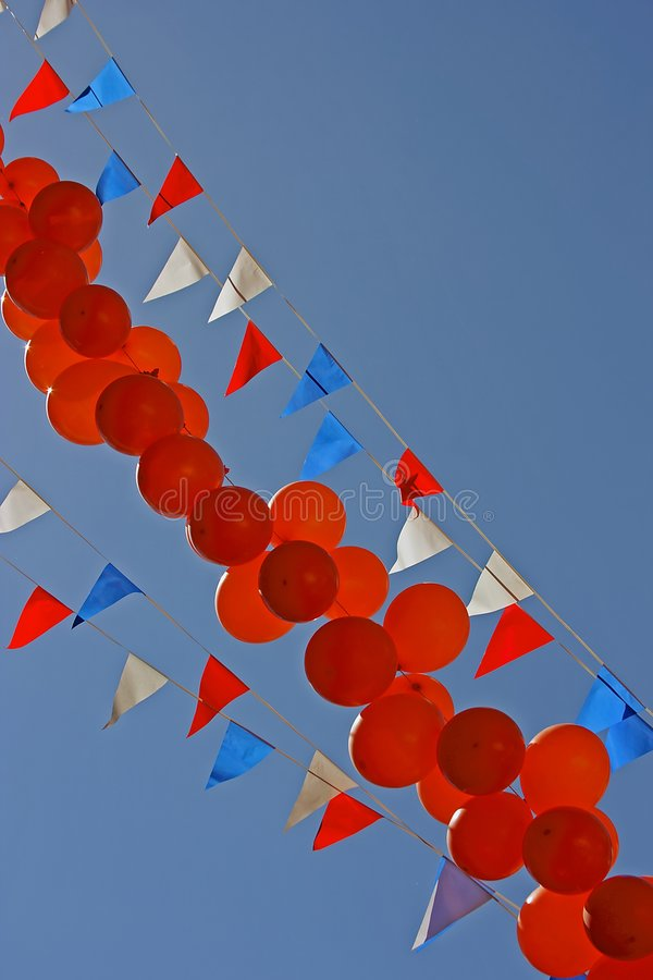 Download Balloons and flags stock image. Image of feast, outdoor - 2476115