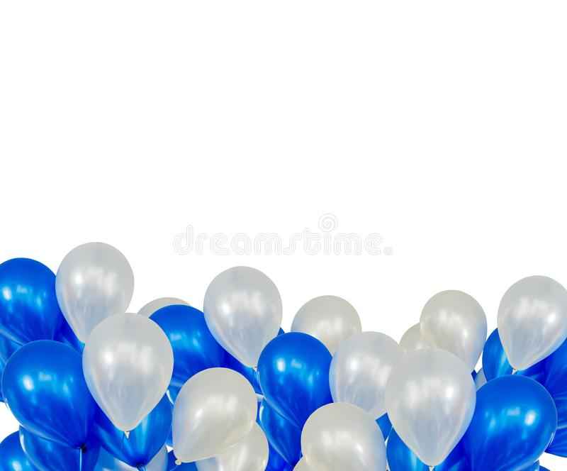 Balloons floating on bottom. With copy space royalty free stock image