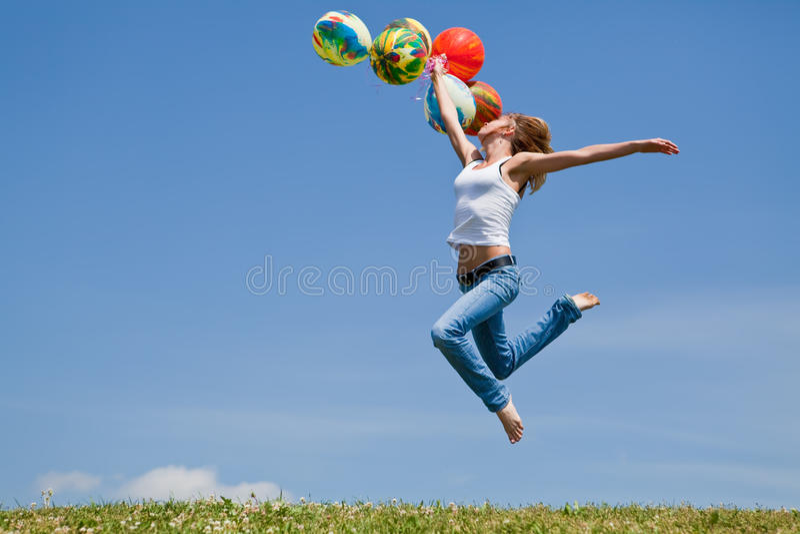 Balloons fly stock photos