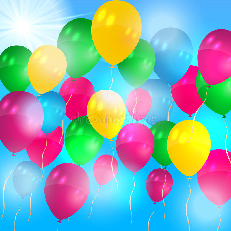 Download Balloons Flying In The Air Royalty Free Stock Image - Image: 26660346
