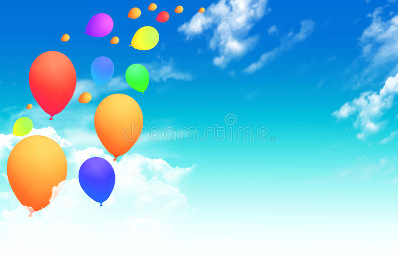 Download Balloons Flying Into The Sky Stock Photo - Image: 16872030