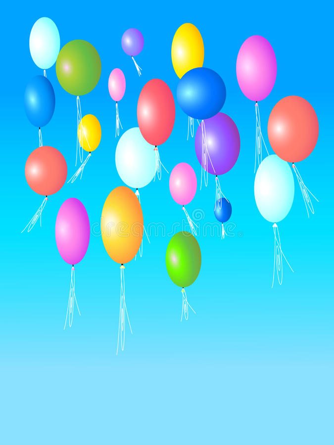 Download Balloons stock illustration. Image of greeting, background - 35277927