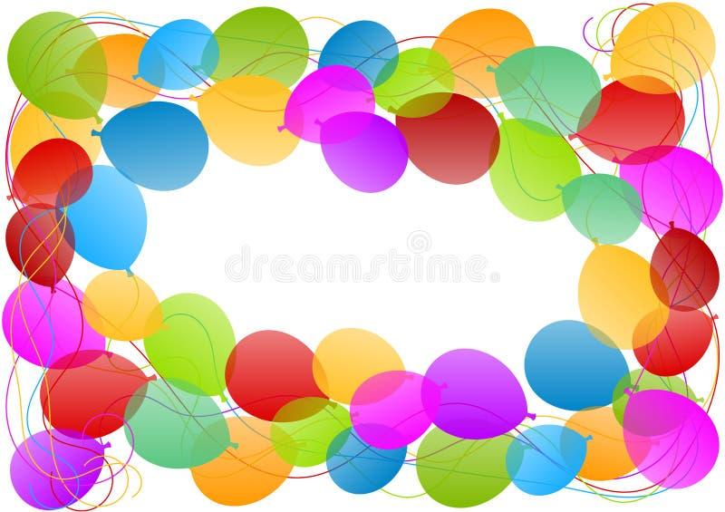 Balloons frame border card stock illustration