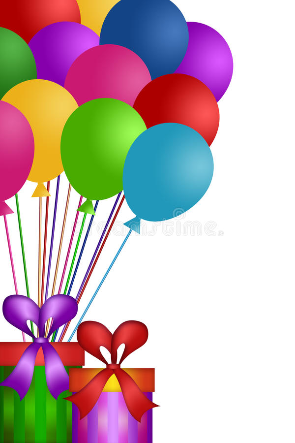 Download Balloons With Gift Wrapped Presents Stock Illustration - Image: 23827398