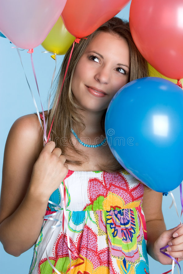 Balloons Girl stock images