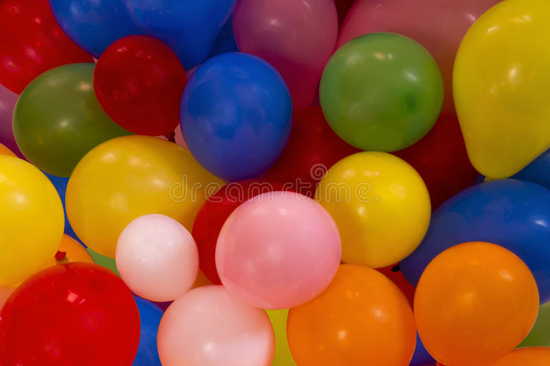 Balloons. A heap of colorful balloons stock images