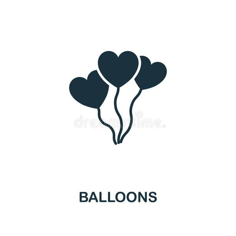 Balloons icon. Premium style design from valentines day icons collection. Pixel perfect Balloons icon for web design vector illustration