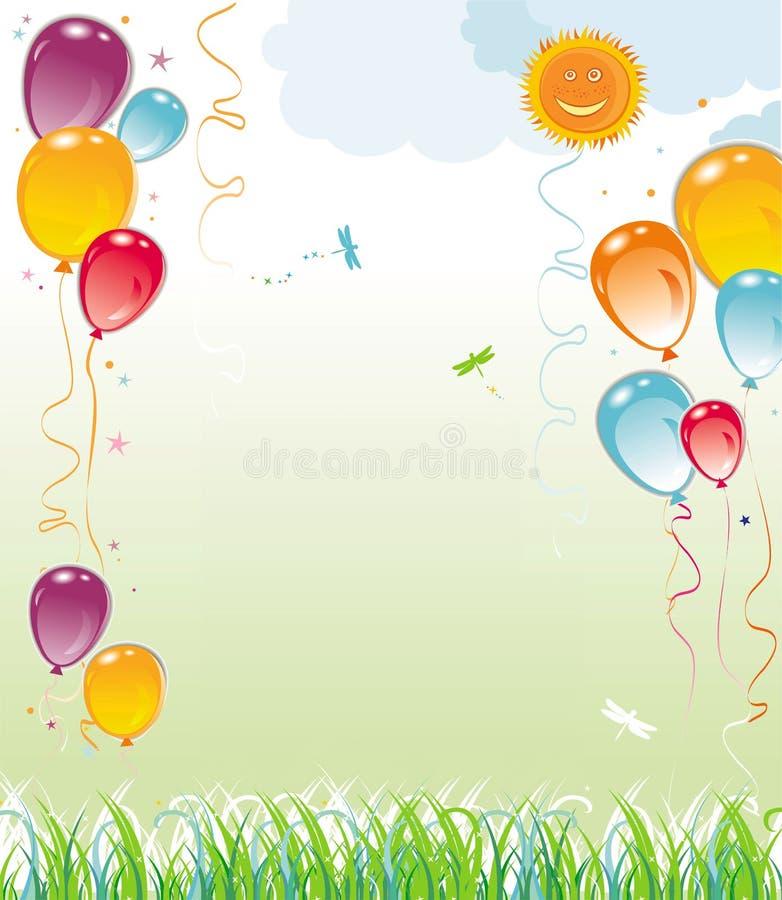 Balloons la composizione naturale illustrazione di stock