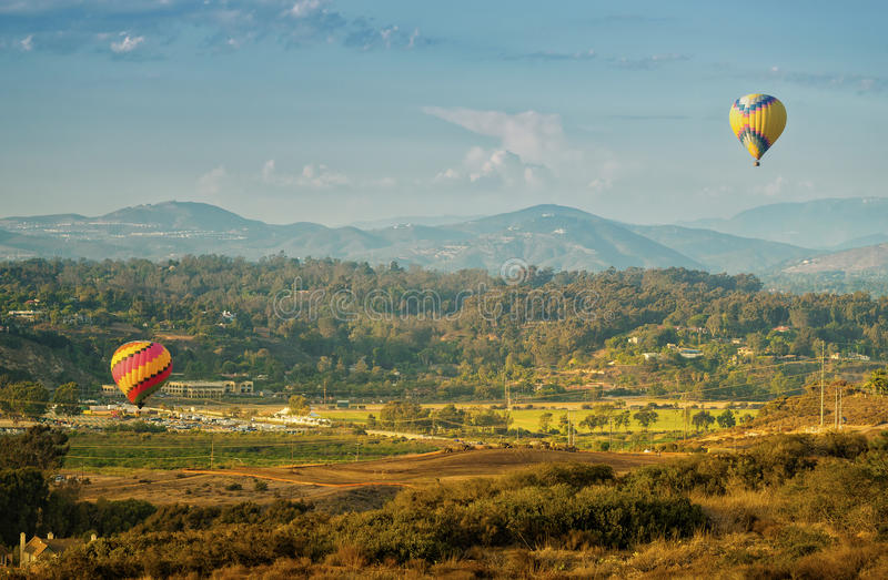 Balloons Lift Off, Del Mar, California Royalty Free Stock Images