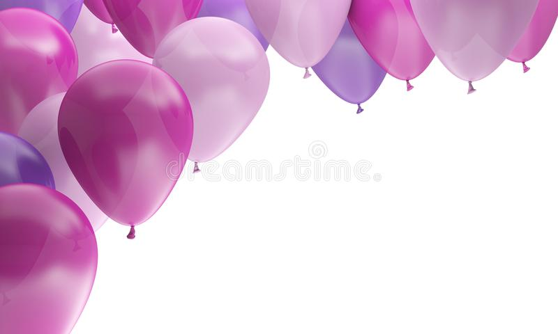 Balloons multicolored party birthday celebration vector illustration