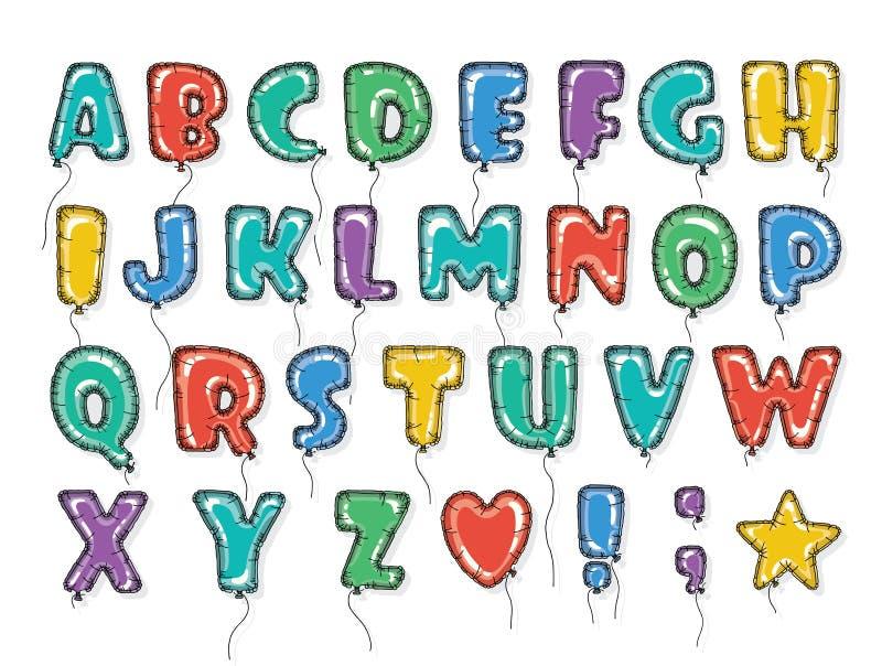 Balloons o ABC brilhante ilustração stock