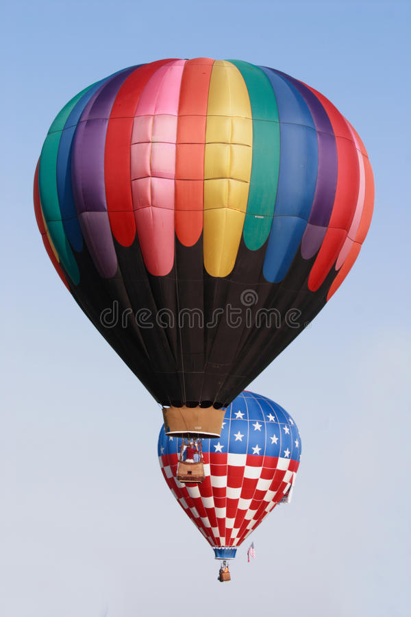 Balloons over Miami royalty free stock images