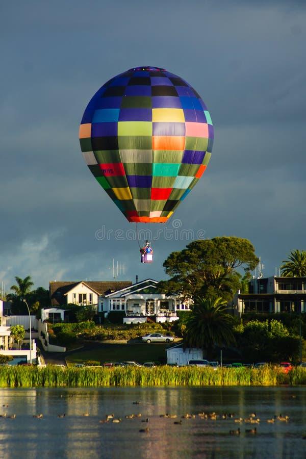 Balloons over Waikato stock photography
