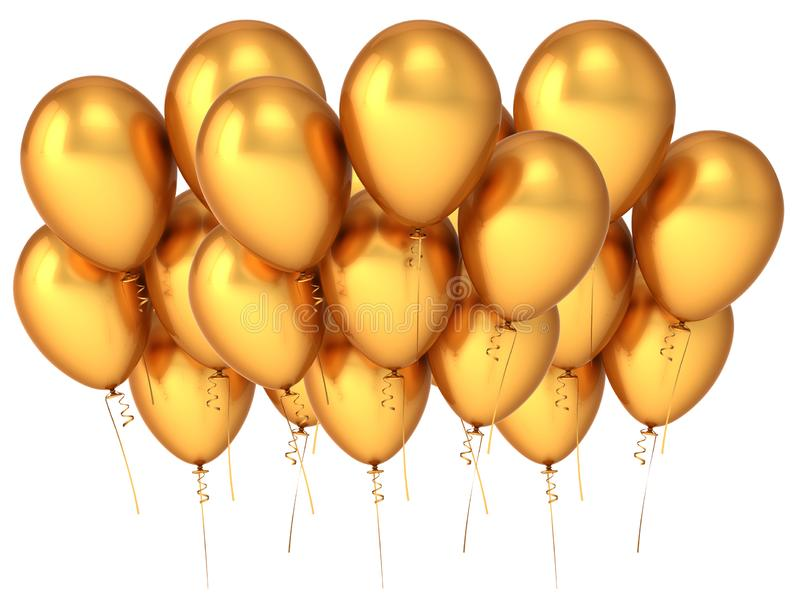 Balloons party baloon gold group banner royalty free stock photos
