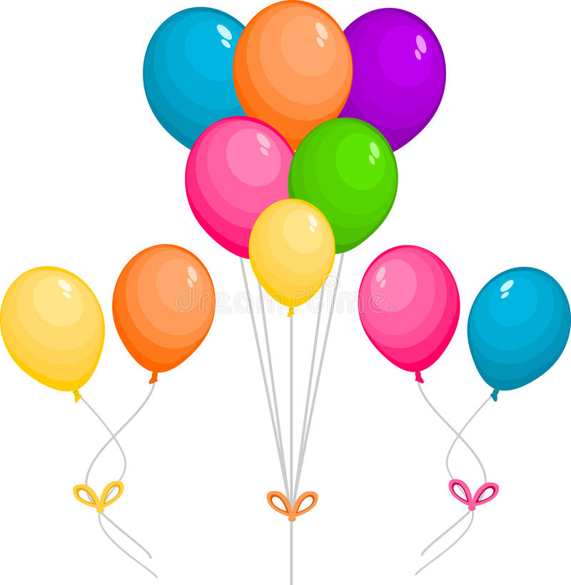 Balloons party vector illustration