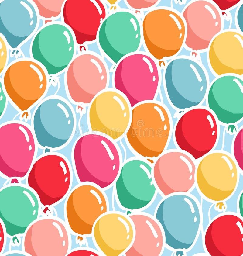 Balloons pattern vector illustration