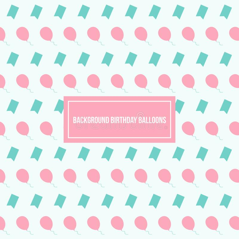 Balloons Pattern Vector Background Template stock photos