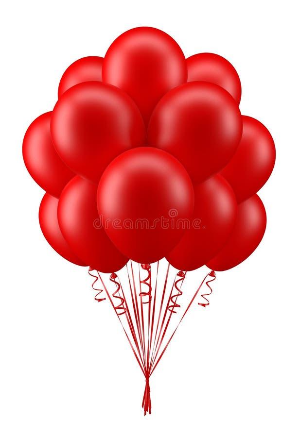 Balloons_red arkivfoton