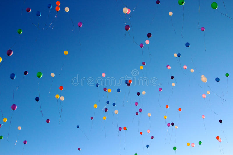 Balloons in the sky royalty free stock photo