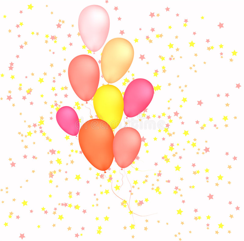 Balloons on stars background vector illustration