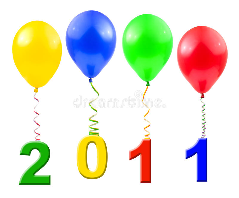 Balloons And Streamer Stock Images