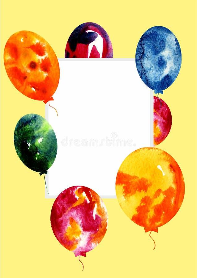 Balloons2 variopinto isolato su un fondo trasparente illustrazione vettoriale