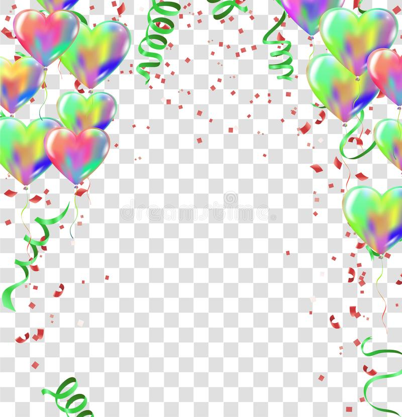 balloons, vector illustration abstract colorful celebration back royalty free illustration