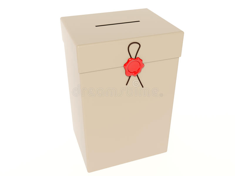 Download Ballot box stock illustration. Image of polling, balloting - 12654107