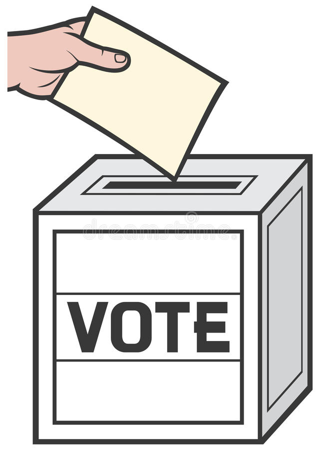 ballot box stock vector illustration of confidential