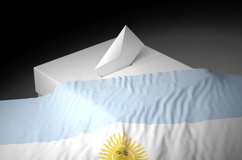 Download Ballot box stock illustration. Image of argentina, container - 31982268