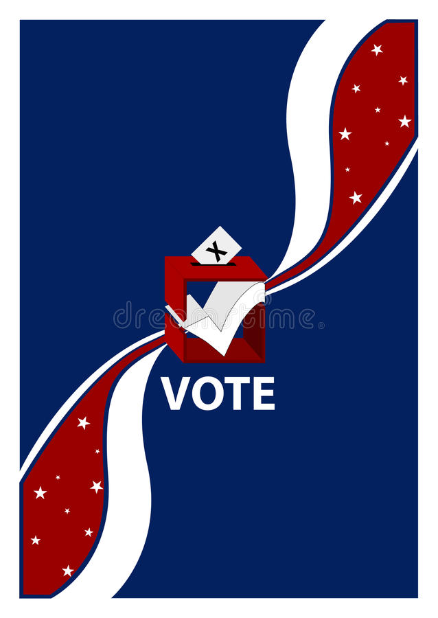 Ballot Box Vote Placard Royalty Free Stock Images