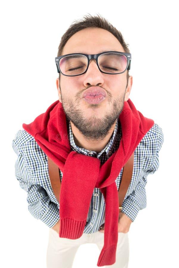 Ballot envoyant un baiser images libres de droits