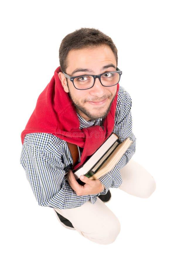 Ballot posant avec des livres image libre de droits