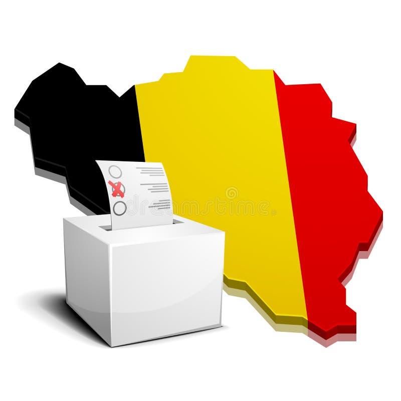 Ballotbox Belgien lizenzfreie abbildung