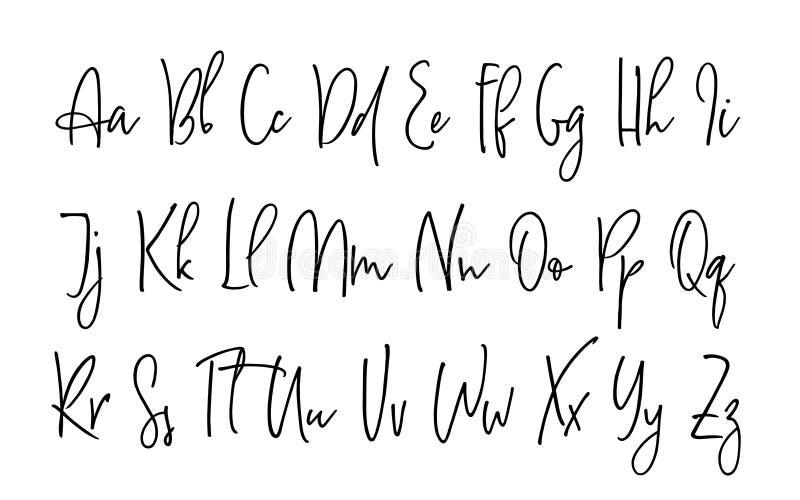 Ballpen Lettering Vector Alphabet Stock Vector
