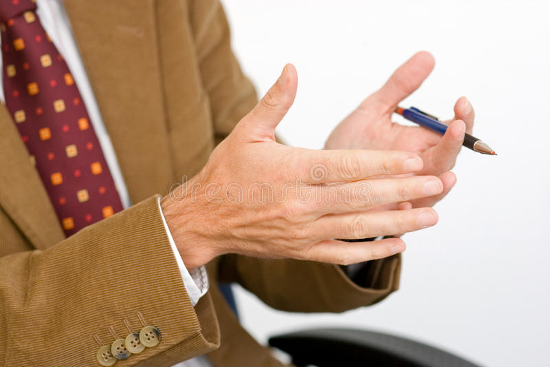 ballpen ręki zdjęcie stock