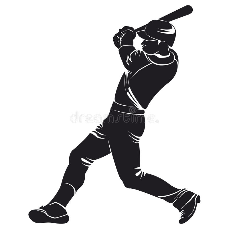 Ballplayer, siluetta royalty illustrazione gratis