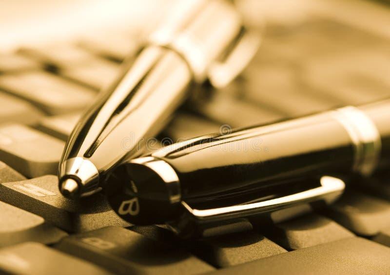 ballpoint laptop zdjęcie stock