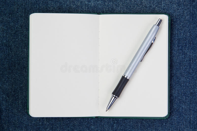 Download Ballpoint Pen On A Clean Notebook. Stock Photography - Image: 26388922