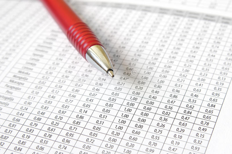 Download Ballpoint Pen and numbers stock photo. Image of calculation - 18254962