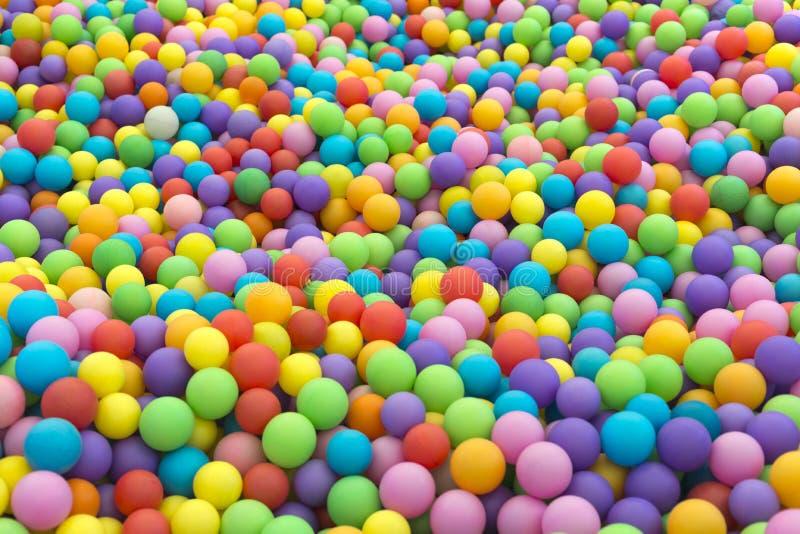 Ballpoolhintergrund stockfoto