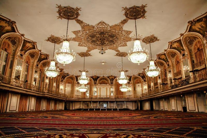 Ballroom of the Conrad Hilton - Chicago stock images