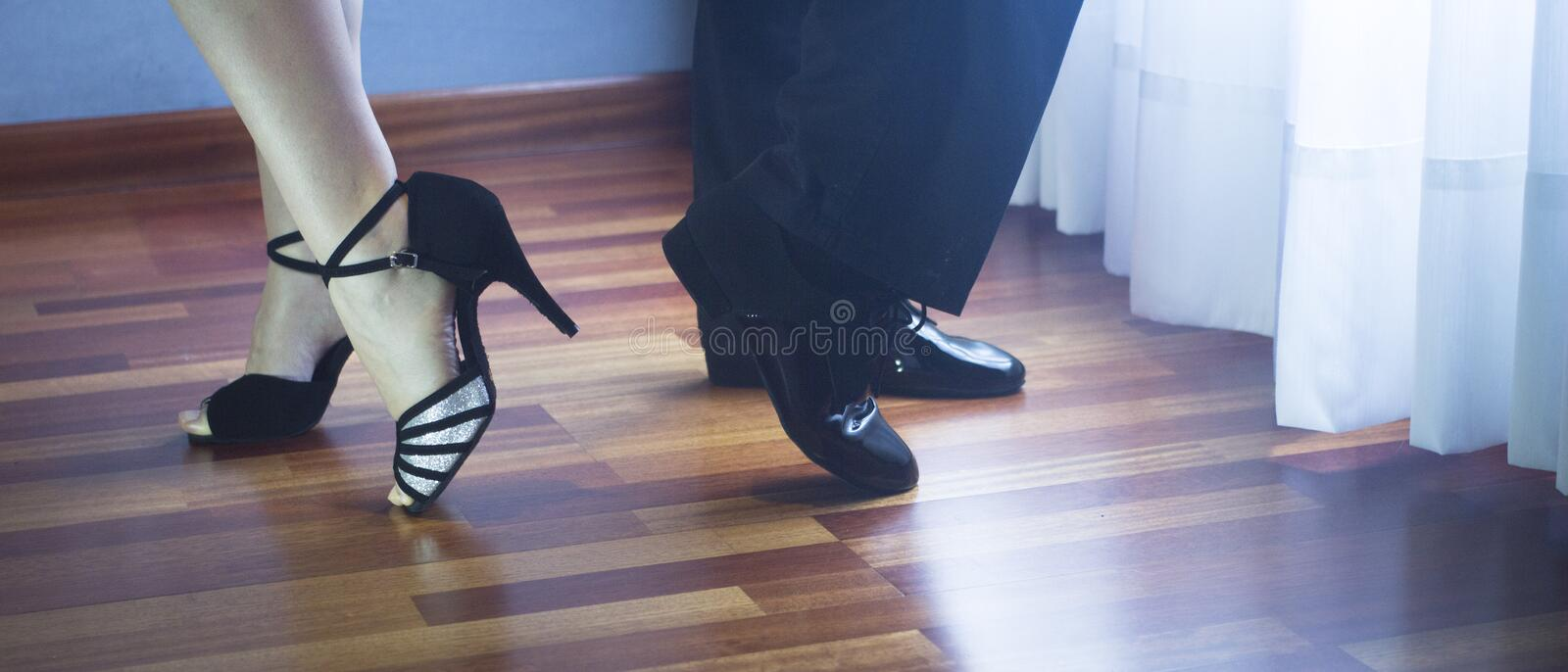 Ballroom dance latin dancers stock photo
