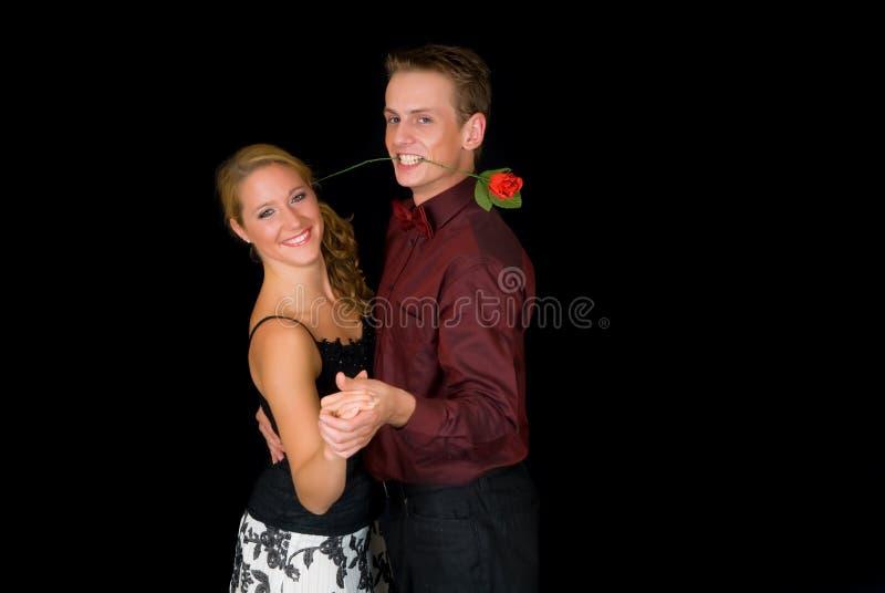 Ballroom dancers stock photography