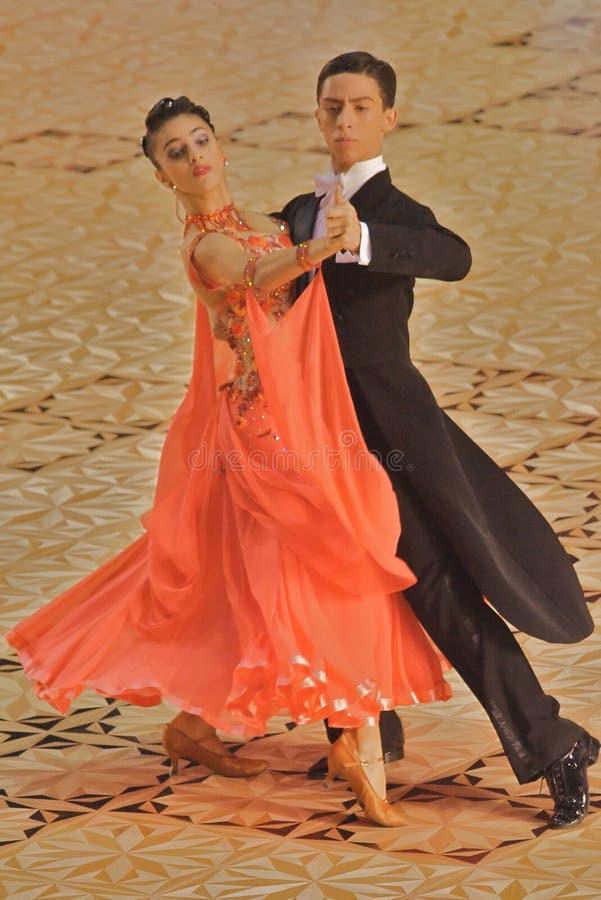 Download Ballroom Dancers Orange Gown Editorial Image - Image: 11585115