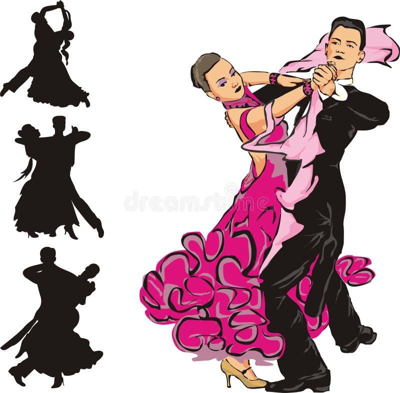 Ballroom dancing royalty free illustration