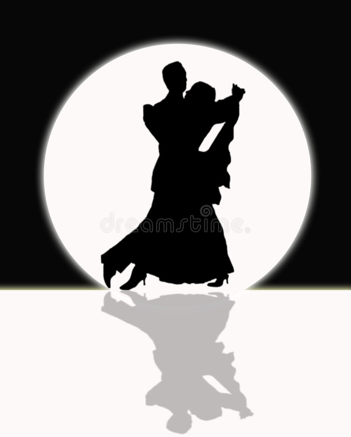 Download Ballroom Dancing In The Moonlight, Black And White Stock Photo - Image: 30632750